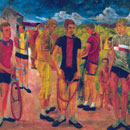 Cyclists, 1931 - Oil